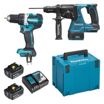 Pack de 2 outils (DDF484 + DHR243) 18V Li-Ion (2x5,0 Ah) - MAKITA DLX2191TJ