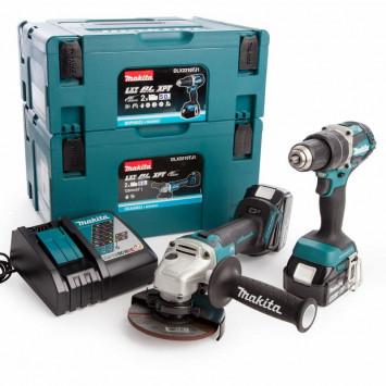 Pack 2 outils (DHP484 + DGA506) 18V LXT Li-Ion (2x5 Ah) - MAKITA DLX2210TJ1