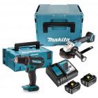 Combopack 2 outils perceuse DDF482 et meuleuse DGA504 18V LXT (2x3,0 Ah) - MAKITA DLXSHOW01