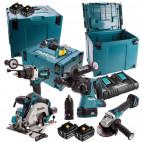 Pack 5 outils 18V Li-Ion LTX (4x5.0 Ah) - MAKITA DLX5038PTJ