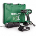 Perceuse visseuse à percussion brushless 18V (2x3Ah) dans coffret de transport - HITACHI DV18DBFL2/JM