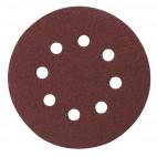 Disques abrasifs Ø 125 mm Red Velcro (bois/metal) 10 pcs  - MAKITA P-43555
