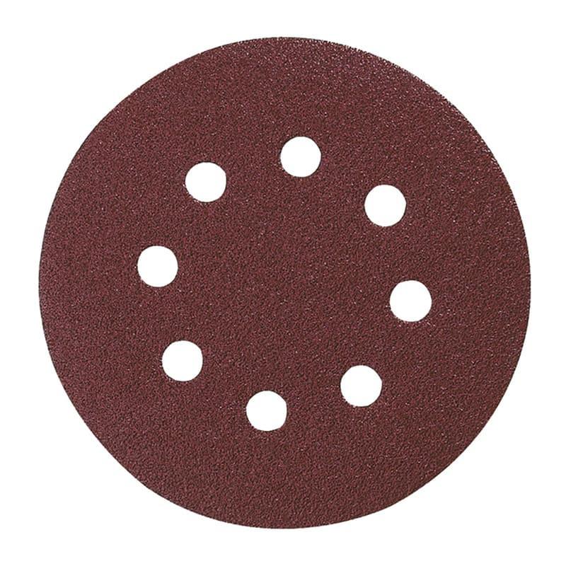 Disques abrasifs Ø125 mm Red Velcro Grain 180 bois/métal (10 pcs ) - MAKITA P-43583