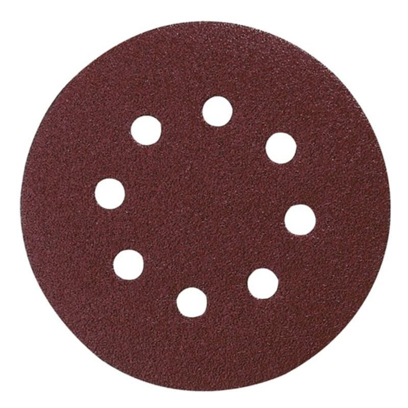 Disques abrasifs Ø125 mm Red Velcro Grain 240 bois/métal (10 pcs)  - MAKITA P-43599