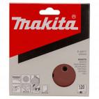 Disques abrasifs Ø125 mm Red Velcro Grain 120 bois/métal (10 pcs)  - MAKITA P-43577