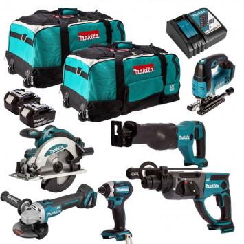 Pack de 6 outils (2x5.0 Ah) dans 2 sacs à roulettes - MAKITA DLXCBO027