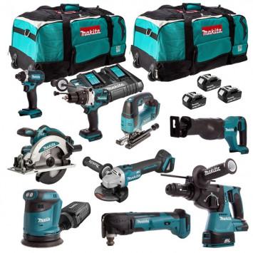 Pack de 9 outils professionnels (3x3.0 Ah) dans 2 sacs à roulettes - MAKITA DLXCBO030