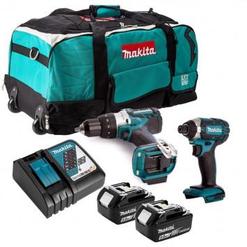 Pack 2 outils usage pro (2x5.0 Ah) dans un sac à roulettes - MAKITA DLXCBO032