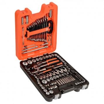 Jeu de douilles 1/4'', 3/8'' et 1/2'' avec clés mixtes/embouts de tournevis - BAHCO S138