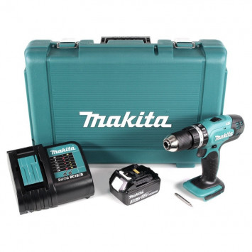 Perceuse visseuse à percussion 18V (1x 3,0Ah) - MAKITA DHP453SF