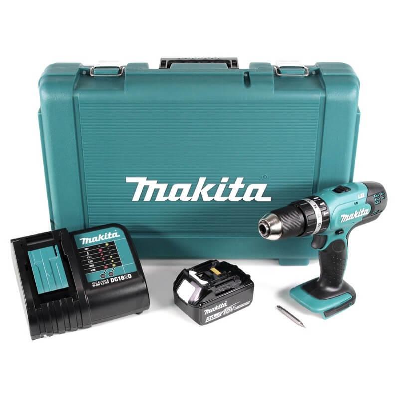 Perceuse visseuse à percussion 18V (1x 3,0Ah) - MAKITA DHP453SF