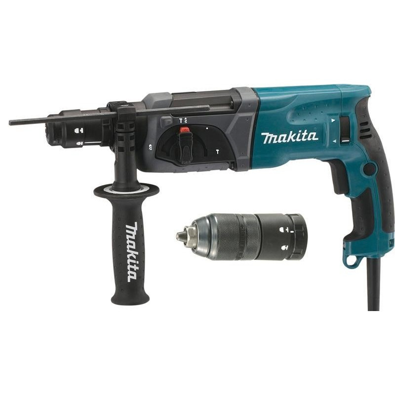 Perforateur burineur SDS+ 780W 24mm dans coffret synthétique - MAKITA HR2470FT