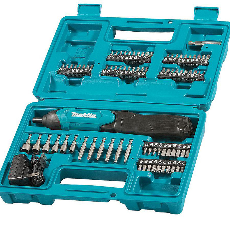 Tournevis 3,6 V Li-Ion 4,5 Nm (1 batterie incluse) avec jeu d'embouts - MAKITA DF001DW