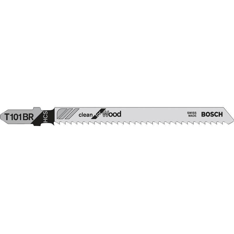 Lame scie sauteuse Clean pour bois (5pcs) - BOSCH T101BR