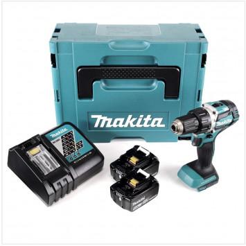 Perceuse visseuse BL 5.0Ah + coffret de 19 accessoires - MAKITA DDF484RTJ+190097500