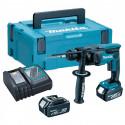 Perforateur burineur SDS + 18V LXT 2x5Ah dans coffret Makpac - MAKITA DHR165RTJ