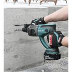 Perforateur burineur SDS + 18V 2x5.0Ah LXT dans coffret Makpac - MAKITA DHR202RTJ