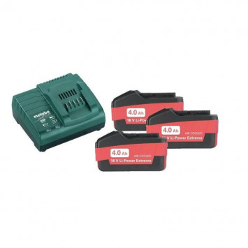 Kit de base 3 x 4.0 Ah avec chargeur ASC 30-36 V - METABO 685049000