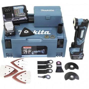 Outil multifonctions 10,8V (2x 4,0 Ah) + accessoires en coffret Makpac - MAKITA TM30DSMJX5