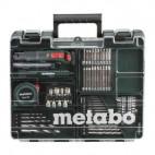 Perceuse visseuse (2x2.0 Ah) avec accessoires dans mallette - METABO 602206880