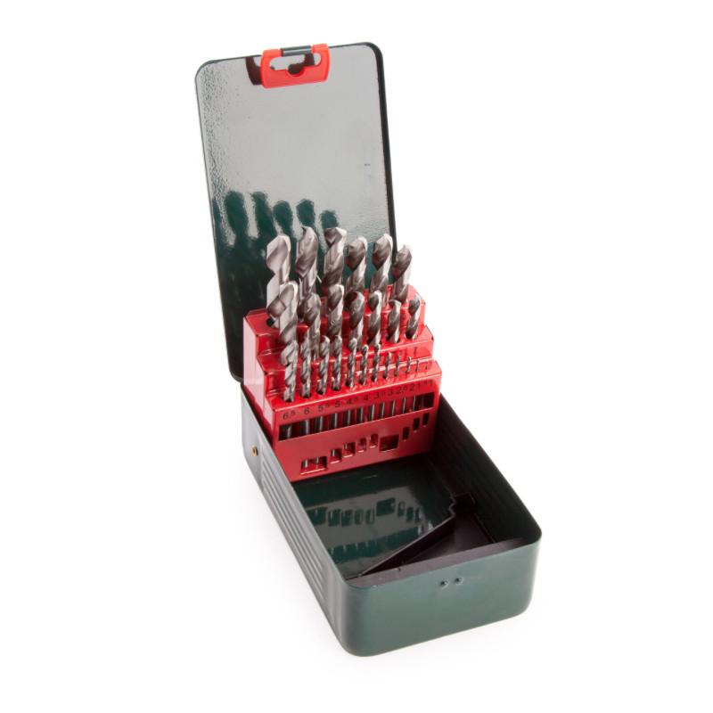 Coffret de forets HSS-G, 25 pièces - METABO 627154000