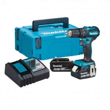 Perceuse visseuse à percussion 18V (2x4 Ah) en coffret Makpac - MAKITA DHP483RMJ