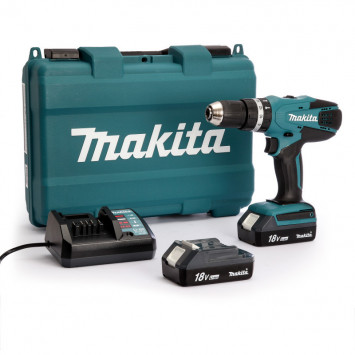 Perceuse visseuse à percussion 18V (2x1,5 Ah) - MAKITA HP457DWE