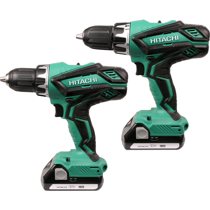 Combopack Perceuse Visseuse + Perceuse à percussion 18V (2x 1,5Ah) Li-ion - HITACHI KC18DGL/JB