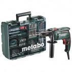 Perceuse à percussion 650W + 60 accessoires en coffret - HITACHI SBE650 SET
