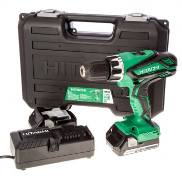 Perceuse visseuse à percussion 18V (2x 2,5Ah) en coffret de transport - HITACHI DV18DGL/JG