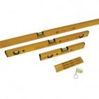 Lot de 3 niveaux 30-60-180cm + 3 crayons + 1 porte clé - STABILA 70-2
