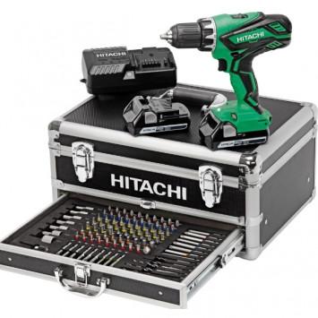 Perceuse visseuse 18 V 2x2.5Ah avec 100 accessoires - HITACHI KC18DJLF