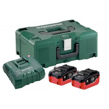 Set de base 2x 7.0 Ah avec chargeur ASC Ultra dans coffret Metaloc - METABO 685109000