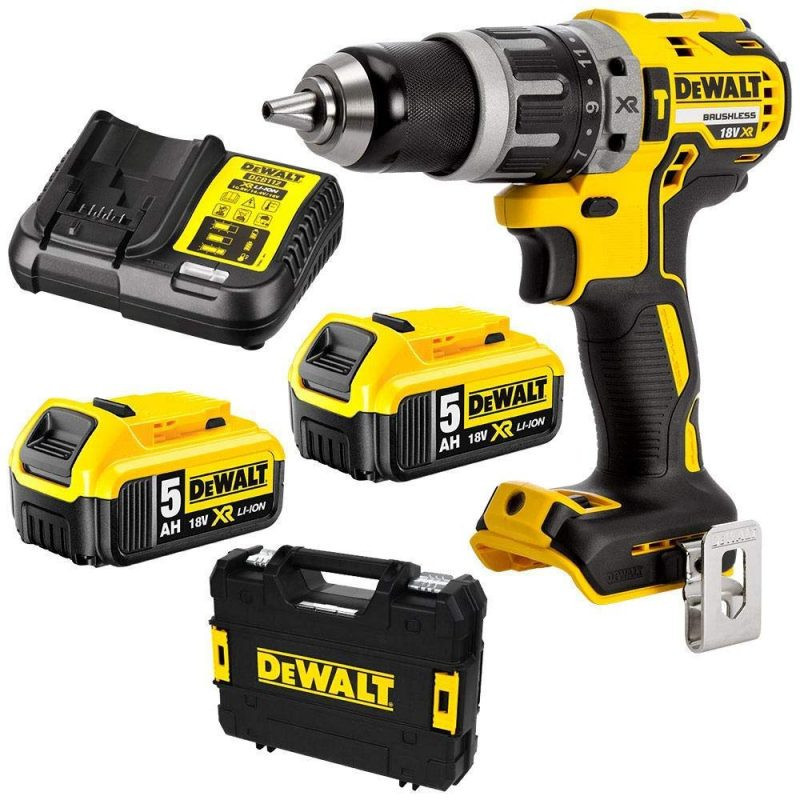 Perceuse visseuse à percussion BL 18V Li-Ion - DEWALT DCD796P2-QW