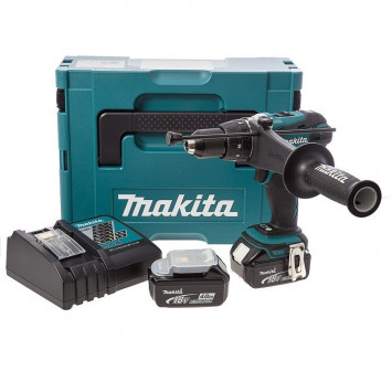 Perceuse à percussion 18V Li-Ion LXT (2x4.0 Ah) dans MakPac - MAKITA DHP458RMJ