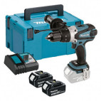 Perceuse visseuse à percussion 18V Li-Ion LXT 2x5.0Ah - MAKITA DHP458RTJ