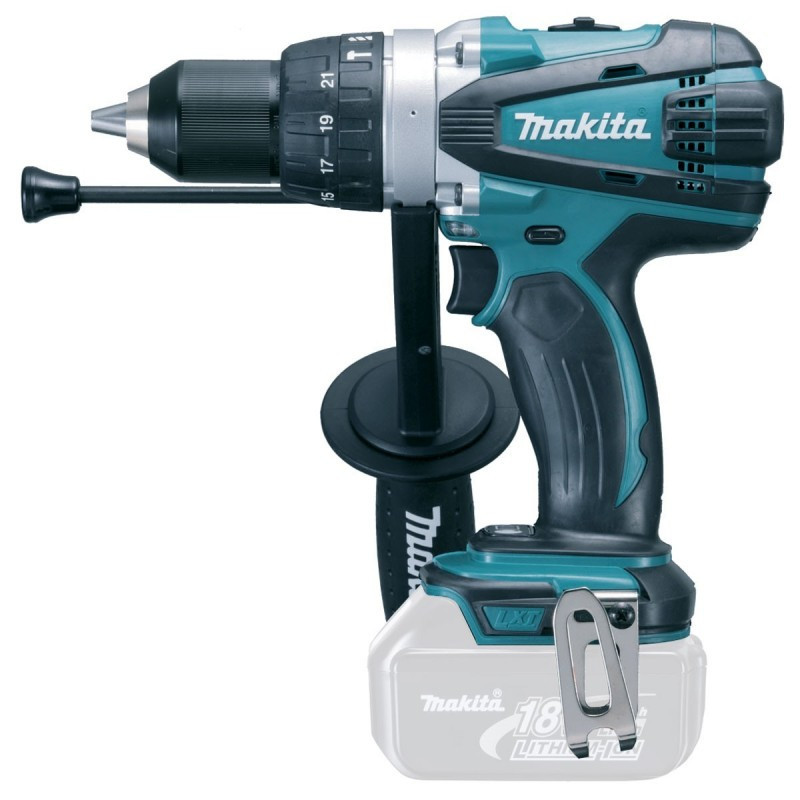 Perceuse visseuse à percussion 18V Li-Ion LXT (machine seule) en coffret - MAKITA DHP458ZJ