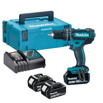 Perceuse visseuse à percussion 18V Li-Ion 3x5.0Ah - MAKITA DHP482RT3J
