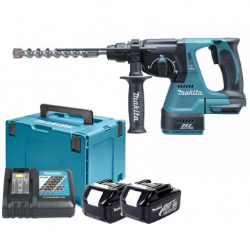 Perforateur burineur 18V Li-Ion BL SDS-Plus (2x3.0 Ah) dans MakPac - MAKITA DHR243RFJ
