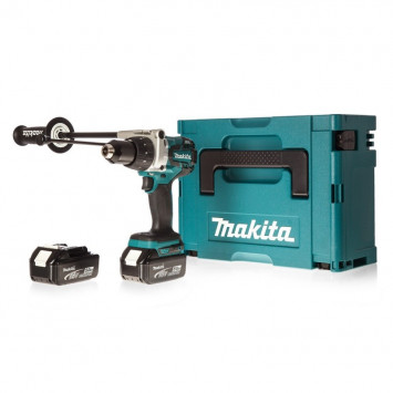 Perceuse visseuse à percussion 18V LXT 2x4.0Ah Li-Ion - MAKITA DHP481RFMJ