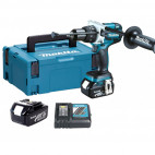 Perceuse visseuse à percussion 18V LXT 2x3.0Ah Li-Ion - MAKITA DHP481RFJ