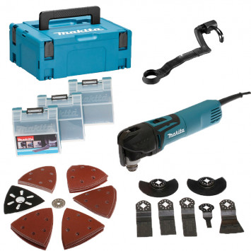 Outil multifonctions 320 W avec kit d'accessoires dans coffret - MAKITA TM3010CX3J