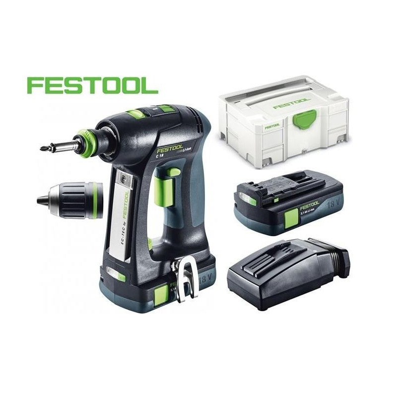 Perceuse C18-LI3.1-COMP sans fil Festool