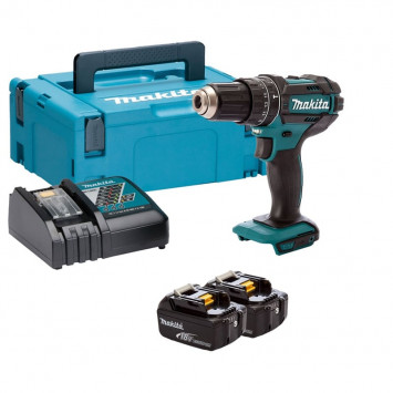 Perceuse visseuse à percussion 18V Li-Ion 2x5.0Ah - MAKITA DHP482RTJ