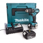 Perceuse à percussion 2x5Ah en coffret Makpac - MAKITA DHP483RTJ