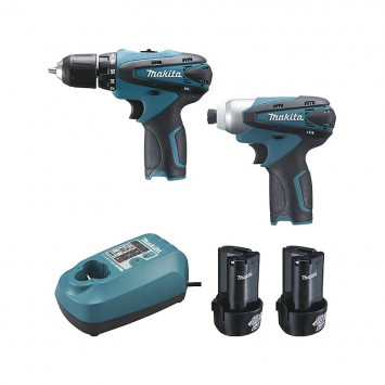 Pack 2 machines 10,8 V Li-Ion 1,3 Ah (DF330D + TD090D) en coffret Makpac - MAKITA LCT204J