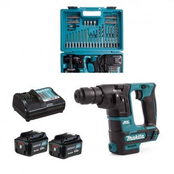 Perforateur SDS-Plus 10.8 V (2 x 4.0 Ah) en coffret avec accessoires - MAKITA HR166DWEME1