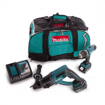 Combopack Perceuse et Perforateur SDS-Plus 18V (2x4.0Ah) - MAKITA DLX2025M