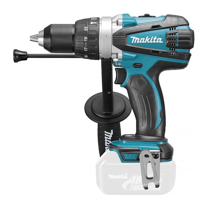 Perceuse visseuse à percussion 18V Li-Ion LXT (machine seule) - MAKITA DHP458Z
