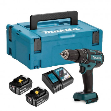 Perceuse-visseuse à percussion 18 V (2 x 3.0 Ah) en coffret MakPac - MAKITA DHP480RFJ